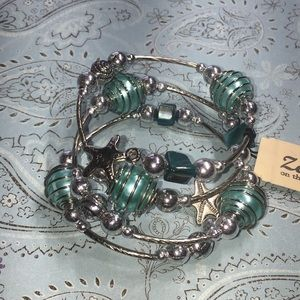 Jewelry - Wrap seaside bracelet starfish shells NWT boutique